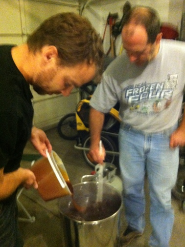 Ten pounds of Pale extract go into the Brown Ale
