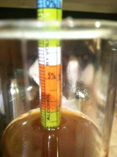 10% ABV before we even add the yeast - nice!