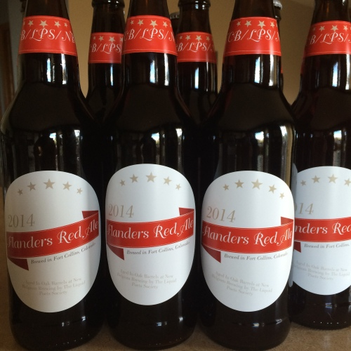 Barrel Aged Flanders Red Sour Ale Bottles